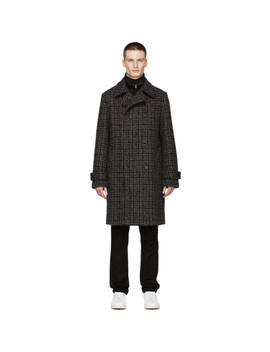 Black & Grey Lance Coat by Stella Mccartney