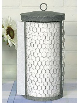 Chicken Wire Paper Towel Holder by Colonial Tin Works