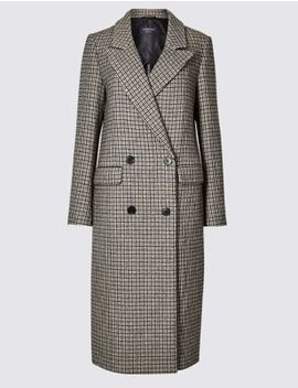 Checked Longline Coat by Tracked Express Delivery: