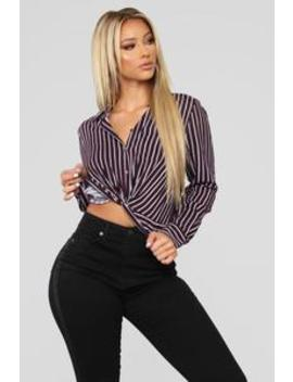 Tempting Me With Stripes Top   Plum by Fashion Nova