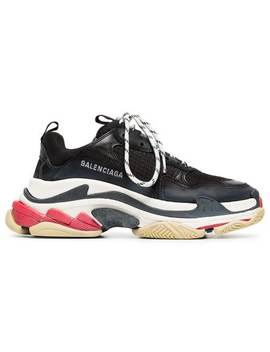 Balenciagablack Triple S Leather Sneakershome Women Balenciaga Shoes Sneakers by Balenciaga