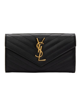 Black Large Monogramme Wallet by Saint Laurent