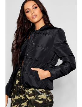 Quilted Bomber Jacket by Boohoo