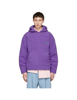 Purple Warm Hoodie by Ader Error