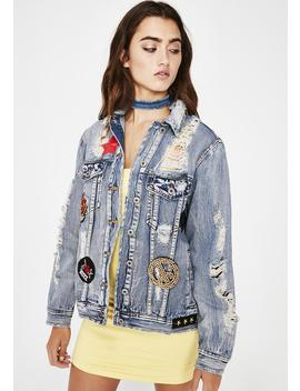 Patch Kid Denim Jacket by Signature 8