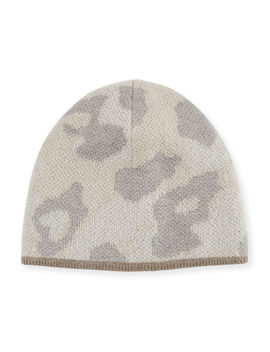 Leopard Print Wool Beanie Hat by Rag & Bone