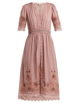 Greta Floral Embroidered Cotton Blend Dress by Sea