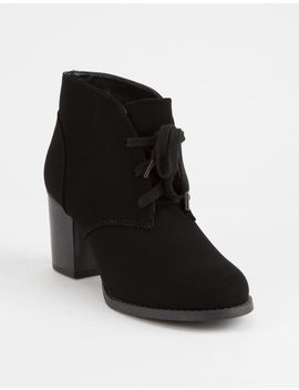 Soda Ripley Black Womens Heeled Boots by Soda