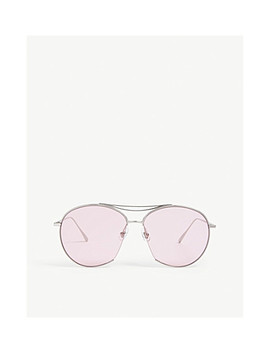 Jumping Jack Tinted Aviator Stainless Steel Sunglasses by Gentle Monster