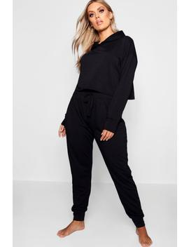 Plus Hooded Cargo Lounge Set by Boohoo