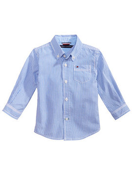 Baby Boys Button Down Stripe Shirt by Tommy Hilfiger