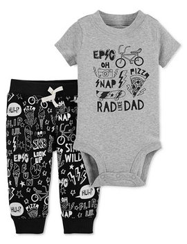 Baby Boys 2 Pc. Rad Cotton Bodysuit & Pants Set by Carter's