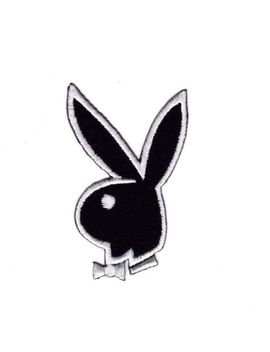 Bunny Rabbit Playboy Embroidered Patch Iron Sew Logo Hardcore Emblem Custom Cute by Unbranded