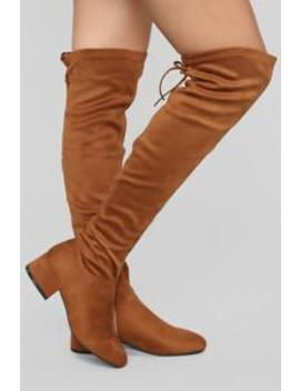 Actions Please Flat Boot   Chestnut by Fashion Nova