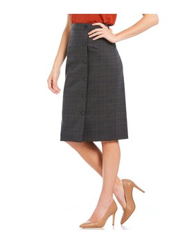Lena Glen Plaid Skirt by Antonio Melani
