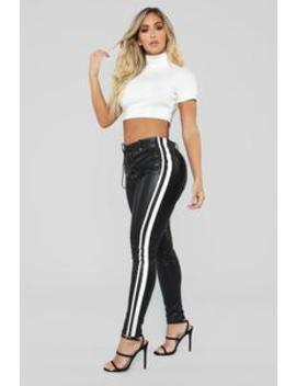 Activate Me Lace Up Pants   Black by Fashion Nova