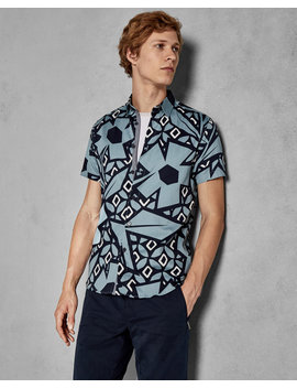 Statement Print Cotton Shirt by Ted Baker