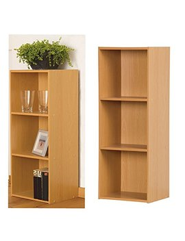 3 Tier Wooden Bookcase Storage Shelving Unit by Top Home Solutions