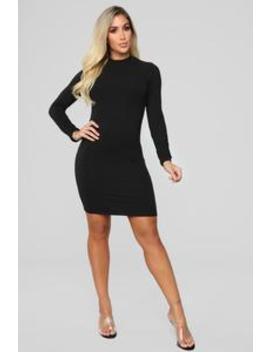 One Call Away Mini Dress   Black by Fashion Nova