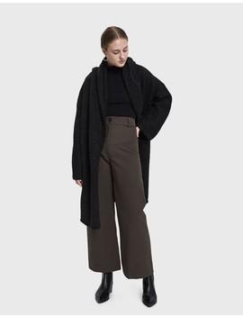 Capote Coat In Black Melange by Lauren Manoogian
