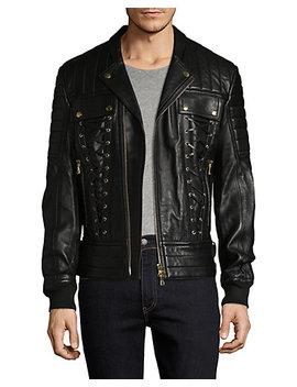 Balmain Lace Up Solid Jacket by Balmain