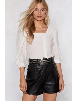 Puff Call Blouse by Nasty Gal