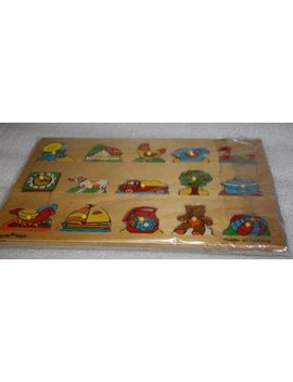 Acre Toys Made In Holland    Wood Toy Vintage Preschool Puzzle Wooden Puzzle Preschool Educational Toy Wooden Toy Wooden Puzzle by Vintage Angel Antiques