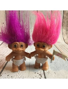 "3"" Russ Baby Trolls   Happy New Year Flag Or No Flag by Vintage Voodoo Juice"
