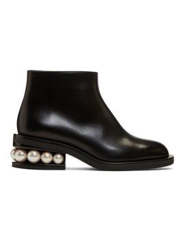 Black Casati Pearl Ankle Boots by Nicholas Kirkwood