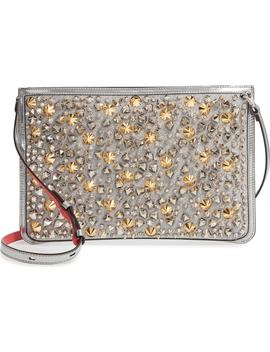 Loubiclutch Studded Glitter Crossbody Clutch by Nordstrom