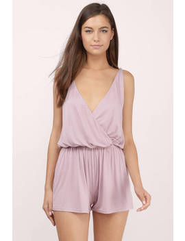 Summer Cruise Mauve Romper by Tobi
