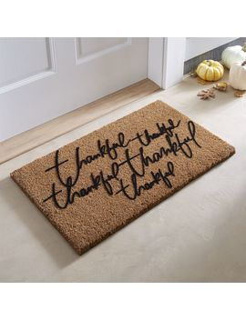 "Thankful Thanksgiving Doormat 18""X30"" by Crate&Barrel"