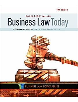 Business Law Today, Standard: Text & Summarized Cases by Amazon