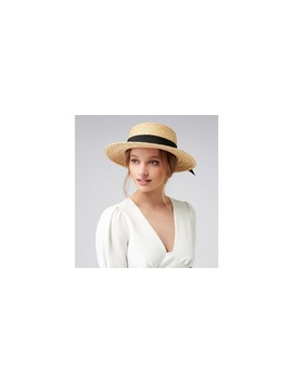 Grace Straw Boater Hat by Forever New