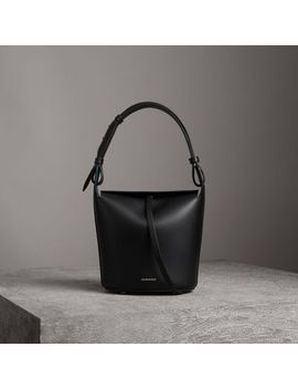 The Small Leather Bucket Bag by Burberry