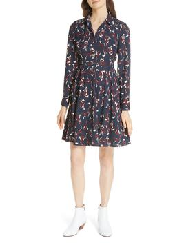 Foxes Smocked Shirtdress by Nordstrom