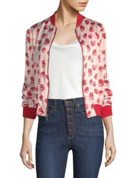 Alice + Olivia X Donald Lonnie Bomber Jacket by Alice + Olivia