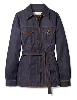 Belted Denim Shirt by Victoria, Victoria Beckham