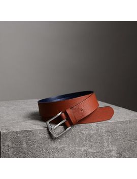 Grainy Leather Belt by Burberry