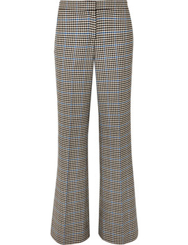 Houndstooth Wool And Cotton Blend Flared Pants by Jw Anderson