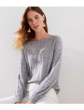 Speckled Draped Sleeve Sweater by Loft