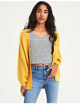Ae Ribbed Chenille Cardigan by American Eagle Outfitters