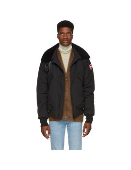 Black Down Bromely Bomber Jacket by Canada Goose