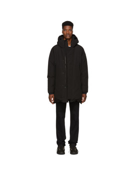 Black Crepel Jacket by Moncler