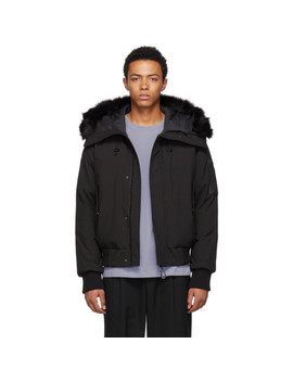 Black Hooded Winter Down Jacket by Kenzo