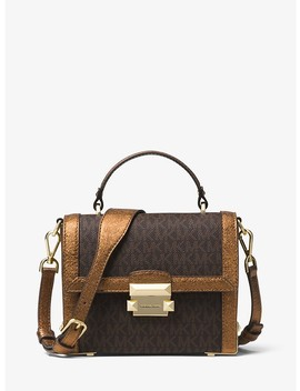 Jayne Small Logo And Leather Trunk Bag by Michael Michael Kors