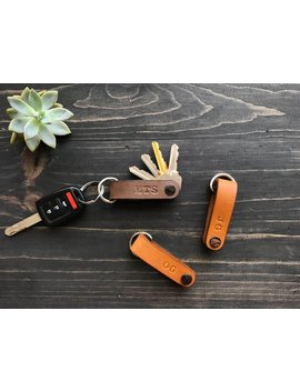 Natural Leather Key Holder, Leather Key Organizer, Leather Key Folder, Leather Key Chain, Best Friend Gift by Recneps Design