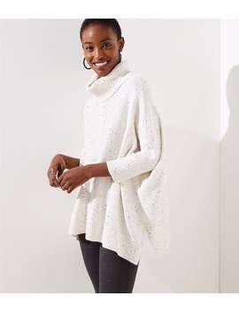 Petite Turtleneck Poncho Sweater by Loft