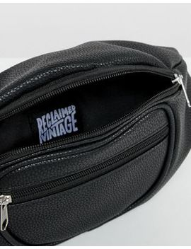 Reclaimed Vintage Inspired Black Bum Bag In Recycled Pu by Reclaimed Vintage