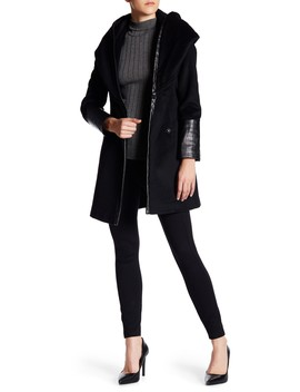 Faux Leather Marla Coat by Via Spiga